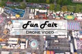 Spectacular drone flight over a funfair (never before seen aerial footage)