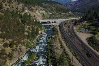 Stream before Nevada Border
