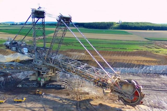 hugh rotary excavator
