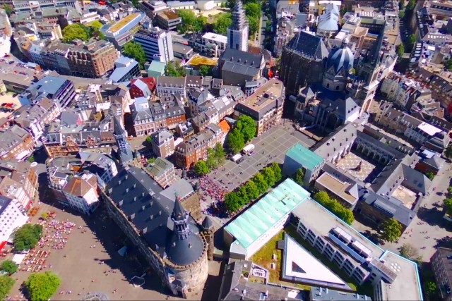 Aachen Germany from above