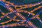 Highway Interchange at Night