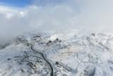 Aerials view Of Gudauri Georgia