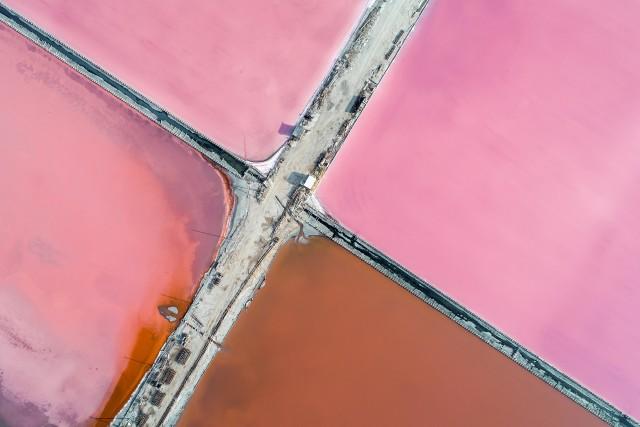 Pink salt production