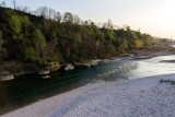 Piave river, Falzè, Veneto, Italy