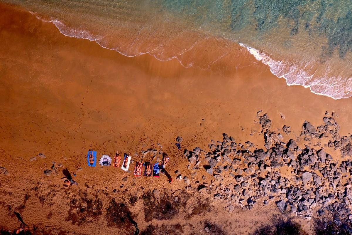 Sunbathing Mayotte