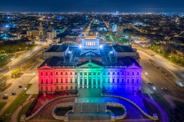 El Palacio en el mes de la diversidad.
