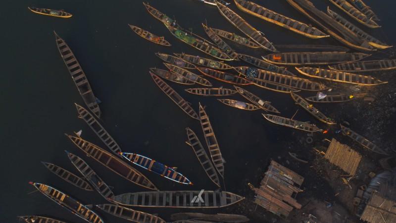 Docked Canoes, Elmina, Central Region, Ghana
