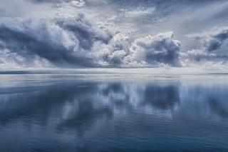 The clouds and the ocean