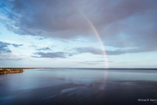 Rainbows over Karrebæksminde bay