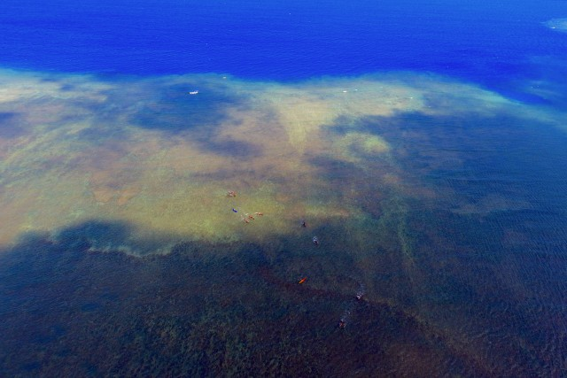 Contraste de couleur, Mayotte, Océan Indien