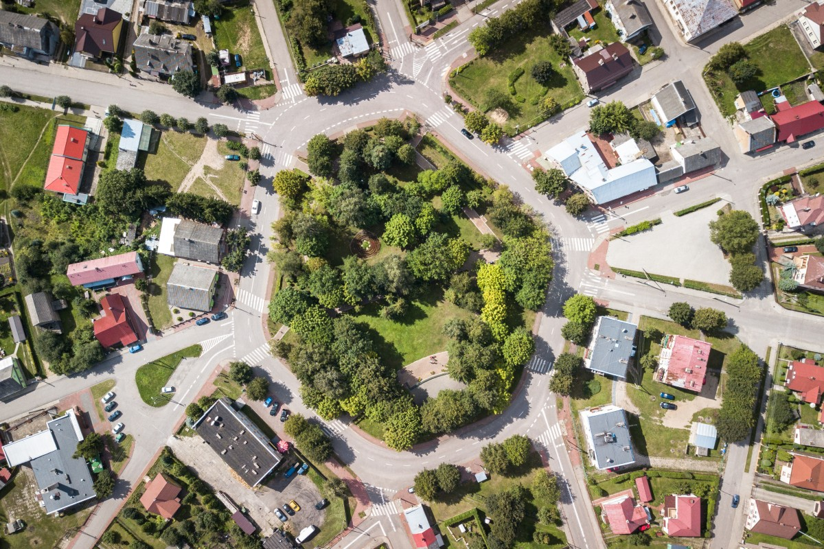 The 'biggest' roundabout in Poland