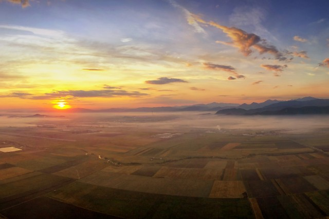 Sunrise over Brasov