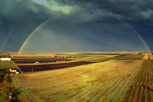 Chasing double rainbows with the drone (1)