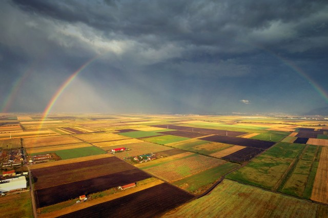 Chasing double rainbows with the drone (2)