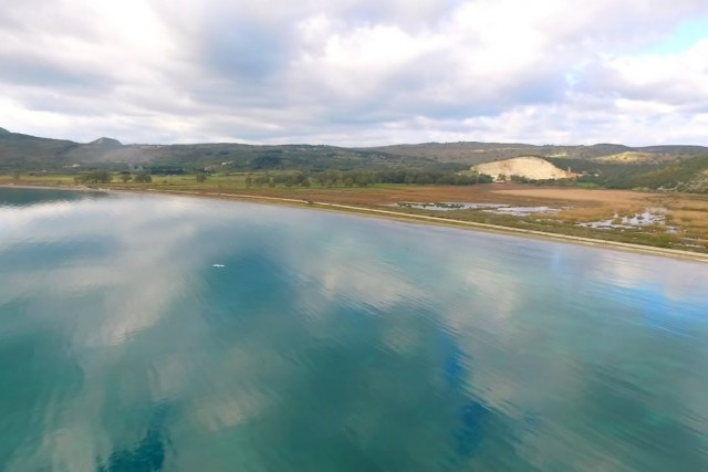 Λιβάδι υδροβιότοπος aerial video, Ληξούρι – Κεφαλλονιά