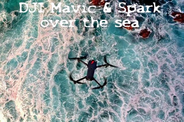 Mavic Pro & Spark over the sea