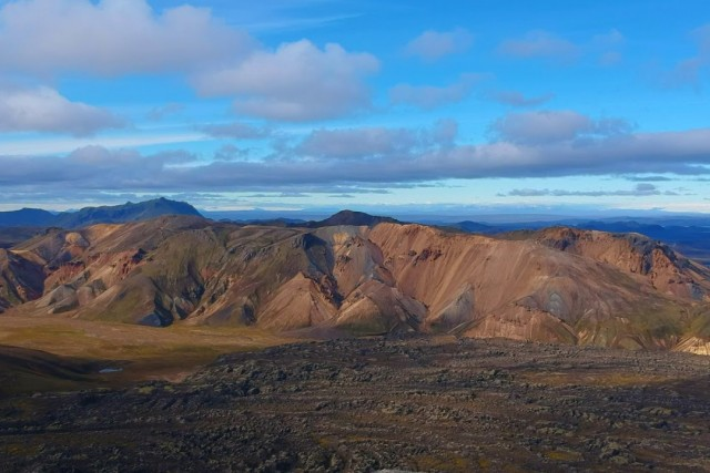 Multi colored mountains in Landmannalaugar, Iceland