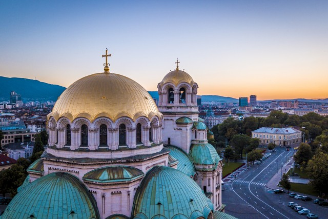 Alexander Nevski Cathedral on Sunset