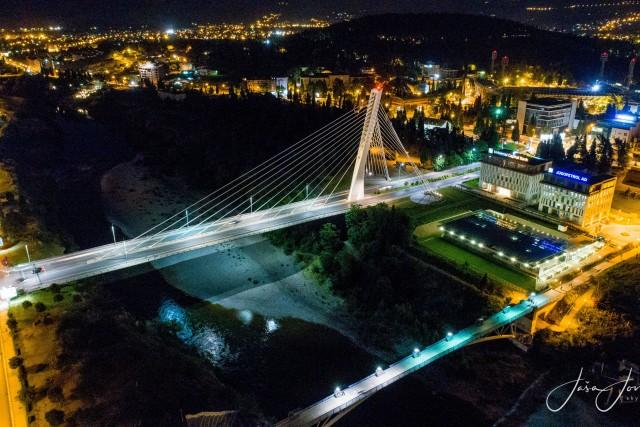 Podgorica by night – Millennium bridge