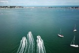 Poole Harbour – Fun with boats by Drone 4K