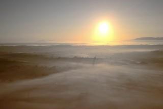 Sunrise over Newry 4k