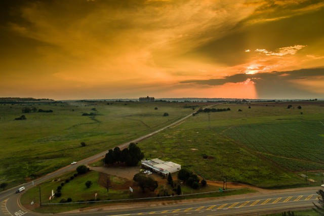 Sunset country side South Africa
