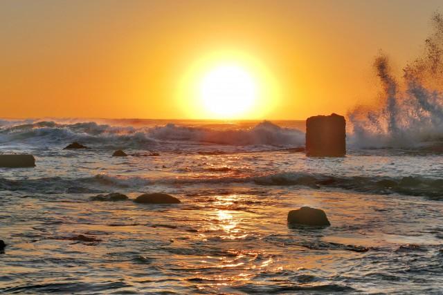 Sunrise over the Indian Ocean at Shaka's Rock