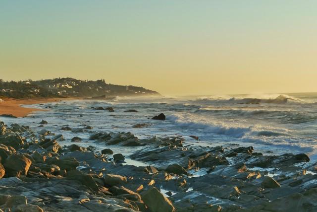 Waves over Shaka's Rock