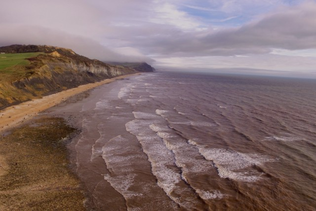 Charmouth beach, Dorset, Uk