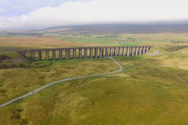 Yorkshire Dale National Park, Ribblehead viaduct, England