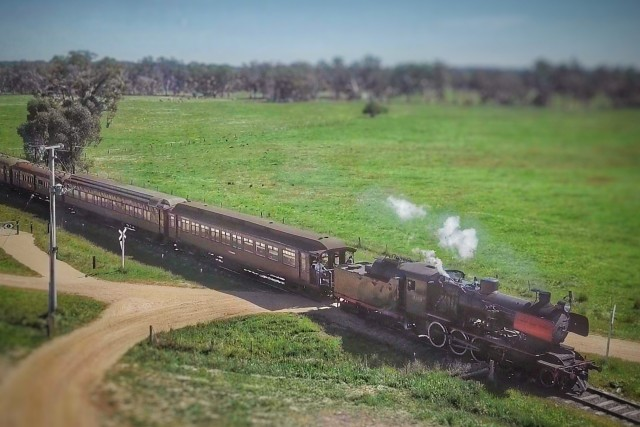 Chasing Steam Trains Across Central Victoria – Bendigo Aerial
