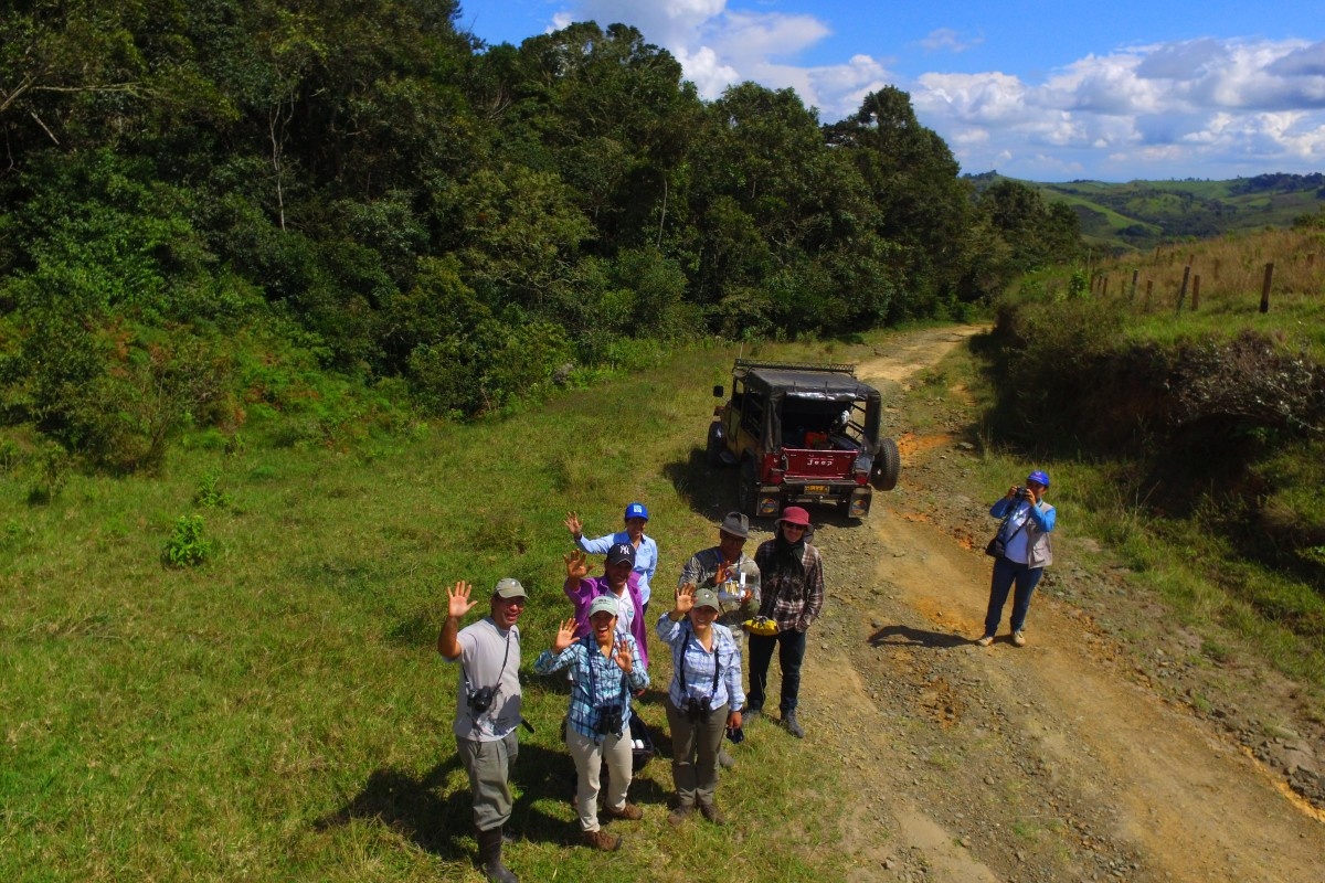 Equipo Calidris en el norte del Valle del Cauca
