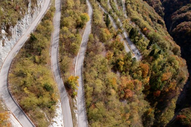 Murello road in Trentino Italy