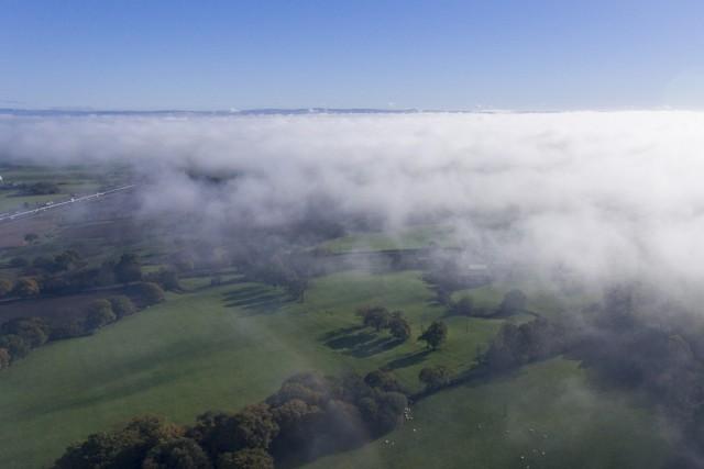 Morning mist dissapears