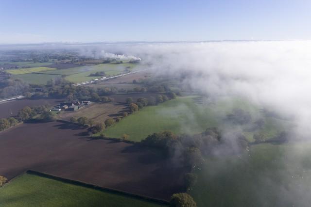Morning mist dispersal