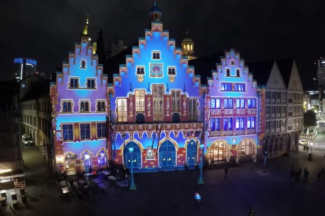 Frankfurt Römer Light Illumination