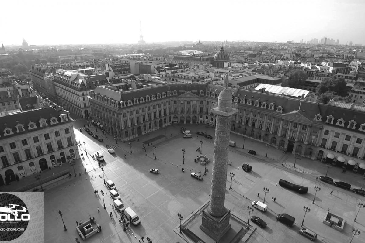 Photographies aériennes de la place Vendôme à Paris