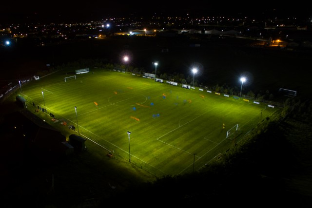 Night time football at Roselea