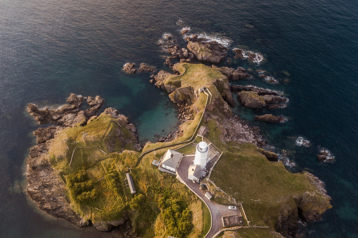 Lighthouse – Aerial Above –