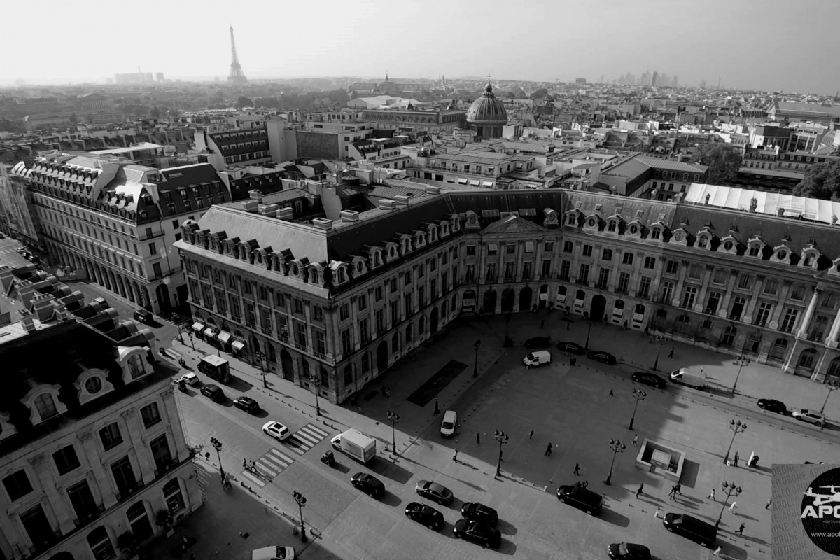 Photographies aériennes de la place Vendôme à Paris