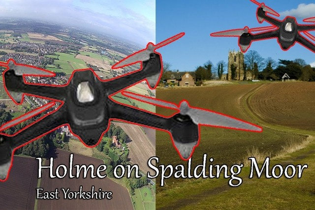Flying in the countryside at Holme on Spalding Moor with the Hubsan H501c