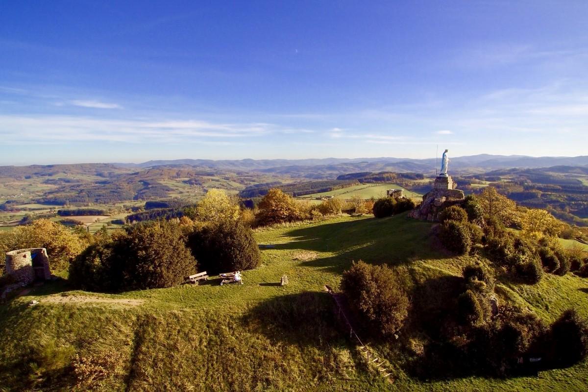 Burgundy landscape