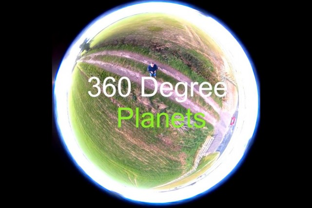 Hubsan X4 H501 flights. 360° Little planets using 360° camera strapped to my drone