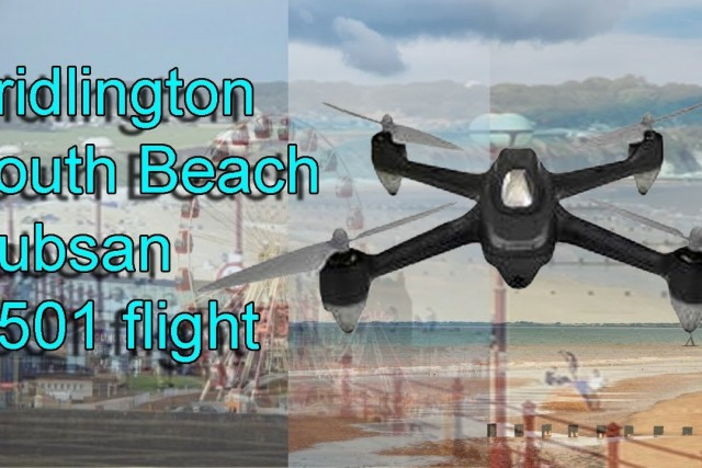 Hubsan X4 H501S flight on a winters night on Bridlington Beach