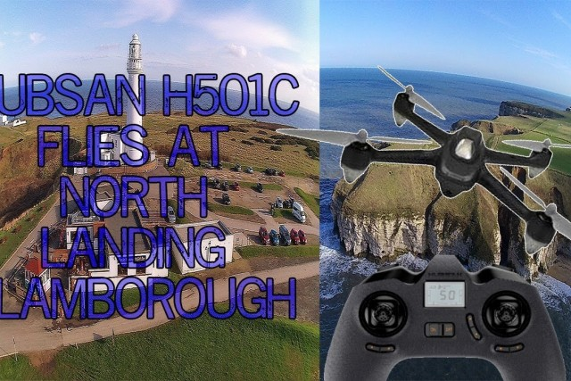 Hubsan X4 H501S Quadcopter flights. North Landing Flamborough Head