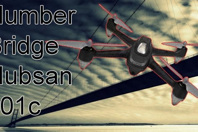 Hubsan X4 H501S Quadcopter flights. The Humber Bridge