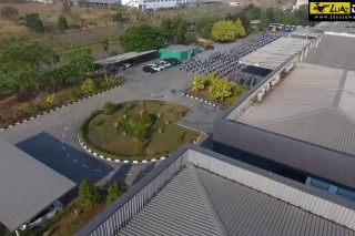 proses pembuatan Company Profile dengan DRONE PT. PAKOAKUINA Kota Karawang