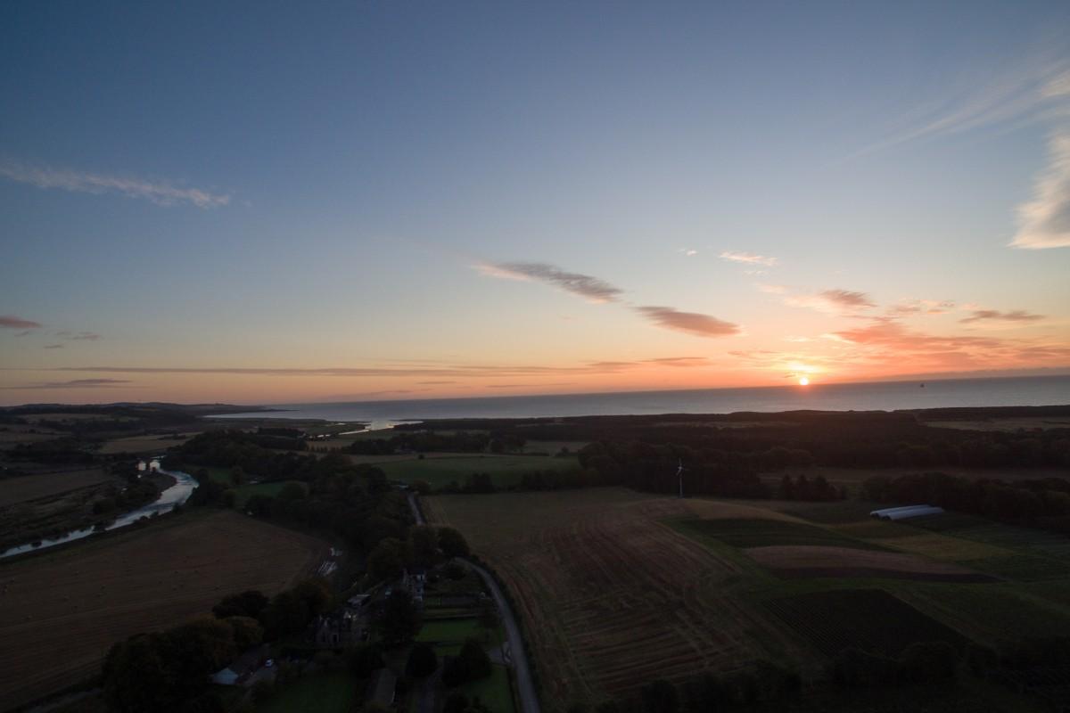 sunrise over the river Esk
