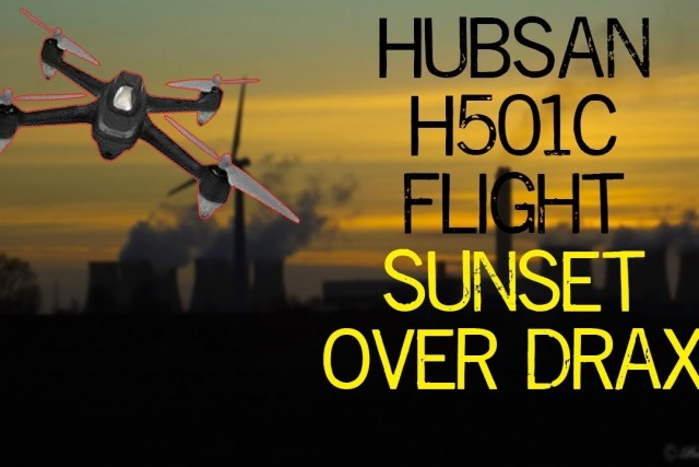 The Sunsets on A power station for the evening. Hubsan H501S flights