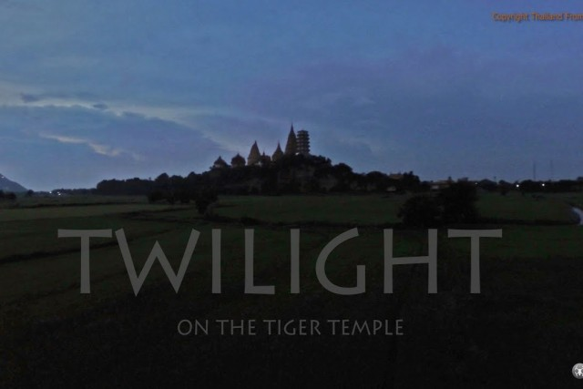 twilight on the temple of the tiger kanchanaburi thailand